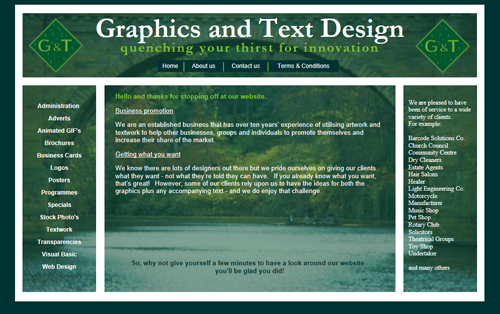 Graphics and Text Design